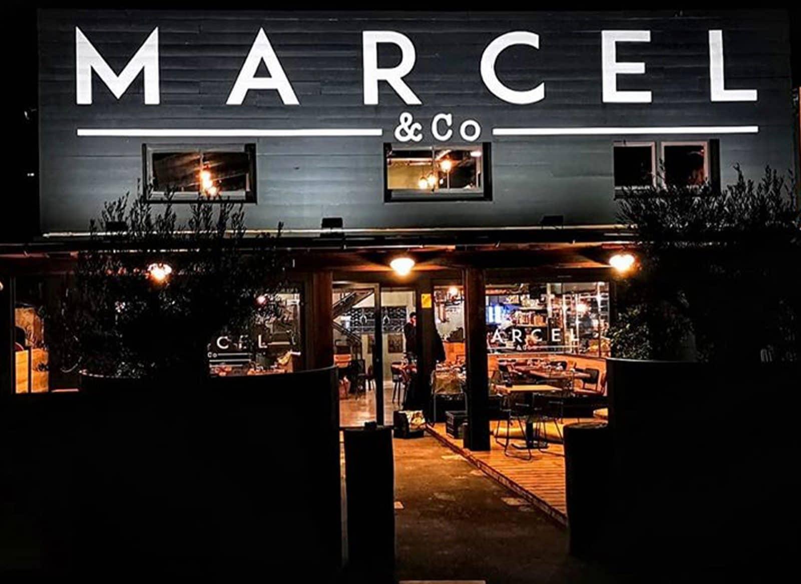 Conception et fabrication de pochoir pour une enseigne en peinture / Marcel & Co - Fréjorgues