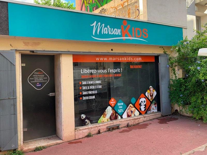 Enseigne extérieure et décoration de vitrine -Marsan Kids